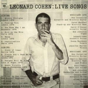 Cohen, Leonard - Live Songs (Vinyl) [ LP ]